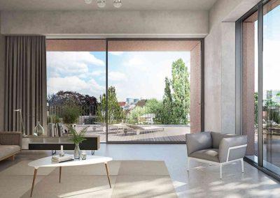 Verglasung Apartmenthaus