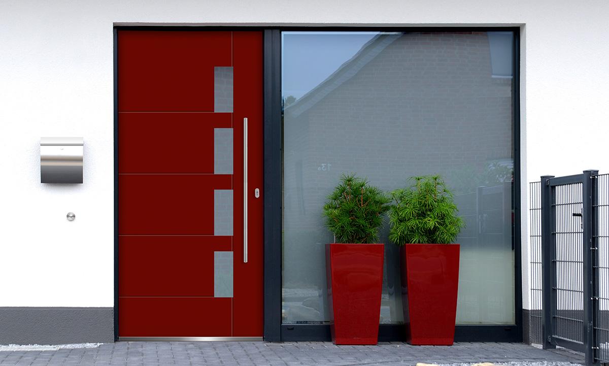 Außentüre rot