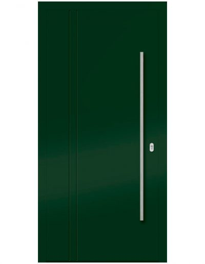 Alu Türe grün ohne Glas