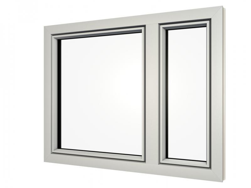hellgrauer Fensterrahmen