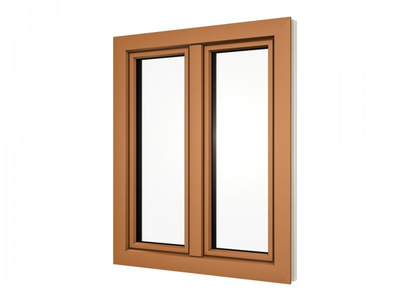 brauner Fensterrahmen