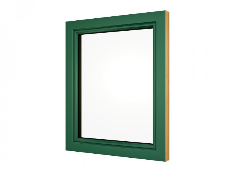 Alu Fensterrahmen moosgrün