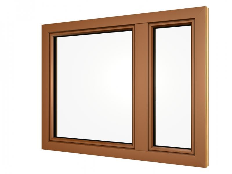 Alu Fensterrahmen lehmbraun