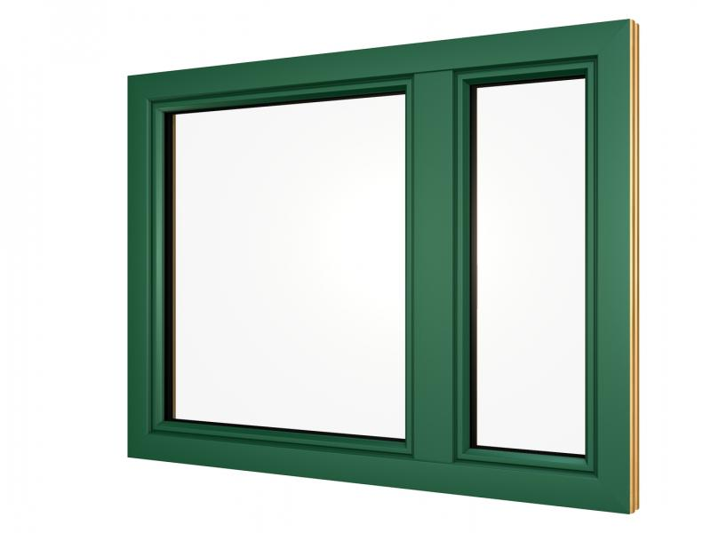 mossgrüner Alu Fensterrahmen