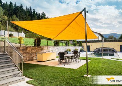 Soliday Sonnensegel über Open Air Küche
